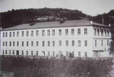 """Сградата на фабрика """"Александър"""" създадена благодарение усилията на Христо Р. Бобчев."""