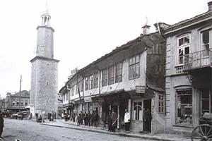 Изглед от главната улица на Габрово кр. ХІХ-нач. ХХ век