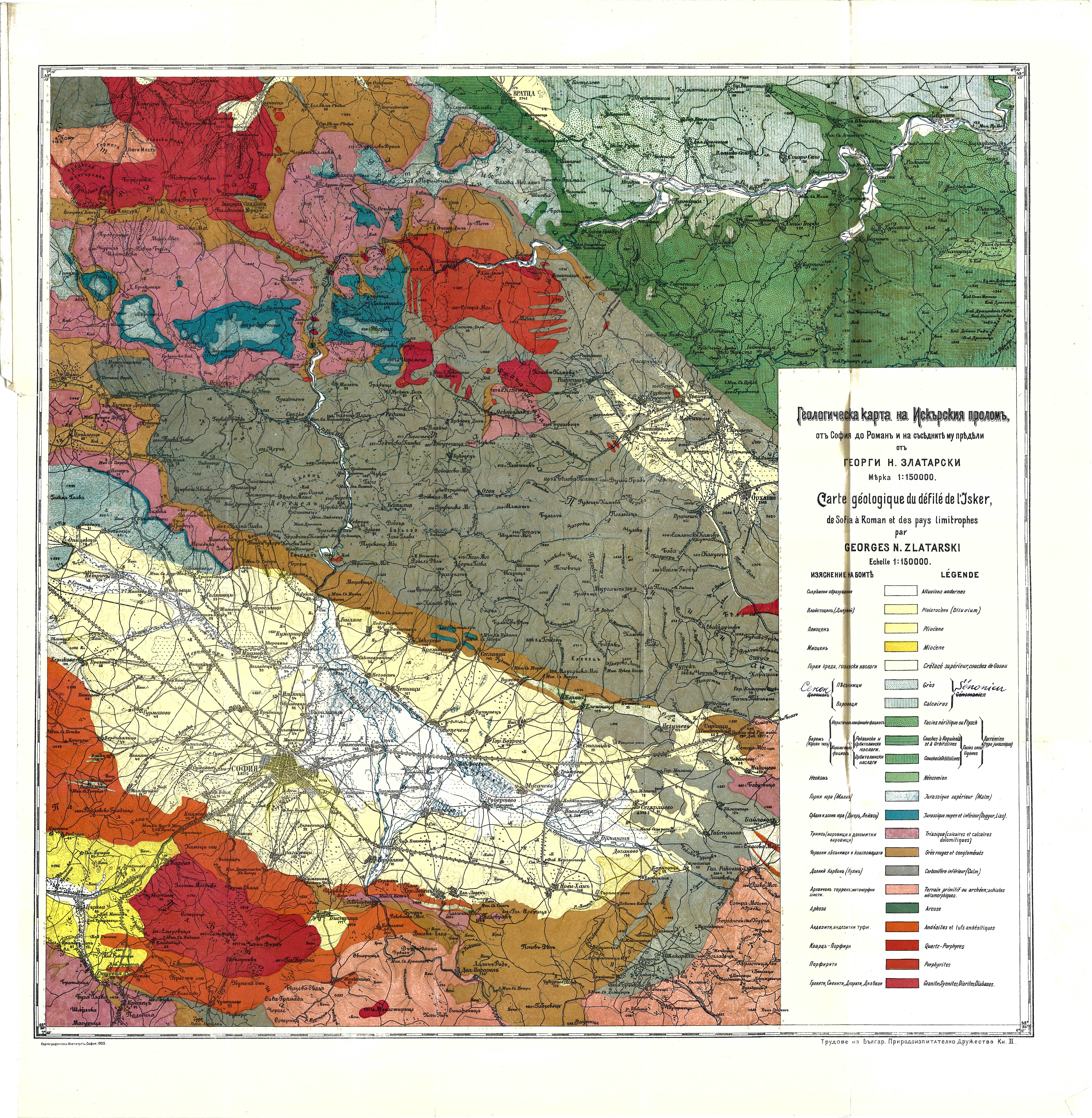 Geologicheska Karta Na Iskrskiya Prolom 1903 G Anamnesis Info